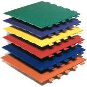 "Pawling's Pro-Tek® Hid-N-Lok® II Interlocking Mat Tile, 3/8"" Thick, 24""L x 24""W, Tan"