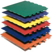 "Pawling's Pro-Tek® Hid-N-Lok® II Interlocking Mat Tile, 3/8"" Thick, 24""L x 24""W, Blue"