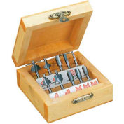 Router Bit Set, 10 Pcs., In Wooden Box