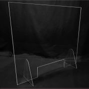 """Freestanding Protective Shield, 30""""W x 30""""H Clear Virgin Acrylic - PATH-554"""