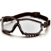 V2g® Lunettes Clear Anti-Fog Lens , Black Strap/Temples