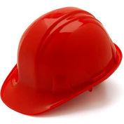 Red Cap Style 4 Point Ratchet Suspension Hard Hat - Pkg Qty 16