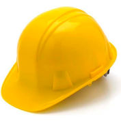 Yellow Cap Style 4 Point Ratchet Suspension Hard Hat - Pkg Qty 16