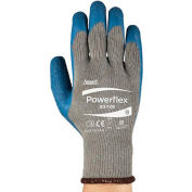 PowerFlex® Latex revêtus gants Ansell 80-100-9, 1-paire, qté par paquet : 12