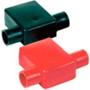 Quick Cable 5774-025R Red Flag Clamp Terminal Protectors, 2/0 & 3/0 Gauge, 25 Pcs