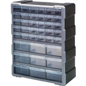"Quantum Plastic Drawer Cabinet PDC-39BK - 39 Tiroirs 6-1/4""W x 15""D x 18-3/4""H"