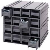 "Quantum Interlocking Storage Cabinet QIC-161 - 11-3/4""Wx11-3/8""Dx11""H - 16 Gray Drawers"