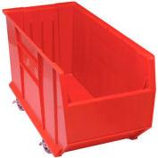 Quantum Mobile Hulk Plastic Stackable Storage Bin QUS998MOB 23-7/8 x 35-7/8 x 17-1/2 Red