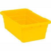 Cross Stack Nest Tote Tub TUB2516-8 -  25-1/8 x 16 x 8-1/2 Yellow - Pkg Qty 6