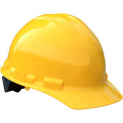 Radians® GHP4 Granite™ Cap Style Hard Hat, 4-Point Pinlock Suspension, Yellow