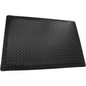 "Rhino Mat Dual Purpose Class 2 Corrugated Anti-Fatigue Mat, 3000 VAC, 5/8"" Thick, 3' x 5', Black"