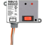 RIB® Enclosed Relay RIBU1S, 10A, SPST-NO, 10-30VAC/DC/120VAC, Override