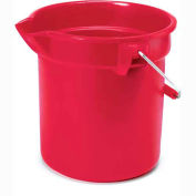 "Rubbermaid® Brute 14 Qt. Plastic Round Utility Bucket 12"" Dia x 11-1/4""H, Red - RCP2614RED - Pkg Qty 6"