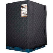 """RefrigiWear RW Protect Insulated Pallet Cover, 48""""L x 40""""W x 48""""H, Black"""