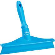 "Vikan 71253 10"" Single Blade Ultra Hygiene Bench Squeegee- Blue"