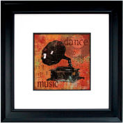 """Crystal Art Gallery - Dance To The Music - 26""""W x 26""""H, Double Mat Framed Art"""