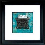 "Crystal Art Gallery - Write Story - 26""W x 26""H, Double Mat Framed Art"