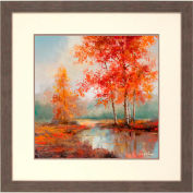 "Crystal Art Gallery - Autumn's Grace 2 - 32""W x 32""H, Double Mat Framed Art"