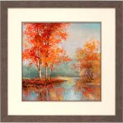 "Crystal Art Gallery - Autumn's Grace 2 - 32""W x 32""H, Double Mat Framed Art"