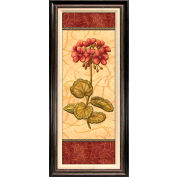 "Crystal Art Gallery - Red Passion Geranium - 18-1/2""W x 42-1/2""H, Linen Liner Framed"