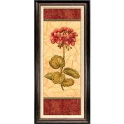 "Crystal Art Gallery - Red Passion Geranium - 18-1/2""W x 42-1/2""H, Linen Liner Framed"