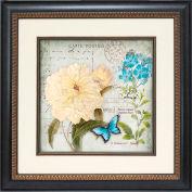 "Crystal Art Gallery - Flower Postcard 1 - 19-3/4""W x 19-3/4""H, Single Mat Fillet"