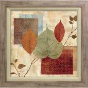 "Crystal Art Gallery - New Leaf Study 1 - 26-1/2""W x 26-1/2""H, Linen Liner Framed"