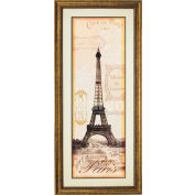 "Crystal Art Gallery - Paris - 20""W x 44""H, Double Mat Framed Art"