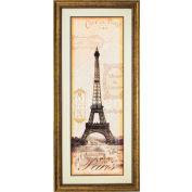 """Crystal Art Gallery - Paris - 20""""W x 44""""H, Double Mat Framed Art"""