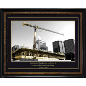 "Crystal Art Gallery - Trump Construction - 24""W x 20""H, Straight Fit Framed"