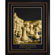 "Crystal Art Gallery - Trump Chess pcs - 26-3/4""W x 32-3/4""H, Straight Fit Framed"