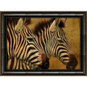 "Crystal Art Gallery - Framed Canvas Zebra 1 - 40""W x 30""H, Straight Fit Framed"