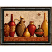 "Crystal Art Gallery - Framed Canvas w/Foil Urns - 40""W x 30""H, Straight Fit Framed"