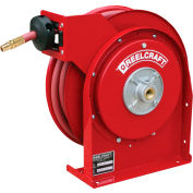 """Reelcraft 4425 OLP 1/4""""x25' 300 PSI Premium Duty All Steel Spring Retractable Compact Hose Reel"""