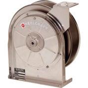 "Reelcraft 5600 OMS 3/8""x30' 300 PSI Medium Pressure Stainless Steel Spring Retractable Hose Reel"