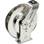 "Reelcraft 7800 OLS 1/2""x50' 500 PSI Stainless Steel Spring Retractable Low Pressure Hose Reel"