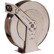 "Reelcraft 83000 OLS 3/4""x50' 500 PSI Stainless Steel Spring Retractable Low Pressure Hose Reel"