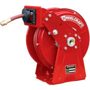 """Reelcraft DP5450 OLP 1/4""""x 50' 300 PSI Heavy Duty Spring Retractable Compact Dual Pedestal Hose Reel"""