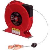 Reelcraft G3050N 50' Static décharge mise à la terre Reel printemps rétractable w / Nylon enduit par câble
