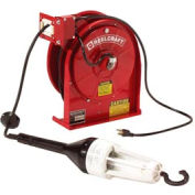 Reelcraft L 5245 A 163 6X 16 AWG / 3 Cond  x 45ft, 3 AMP, Fluorescent Light, with Cord, 38 lbs