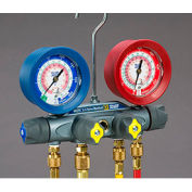 """Yellow Jacket® BRUTE II Manifold With 60"""" RYB Hoses and 3/8"""" x 45° 46032"""
