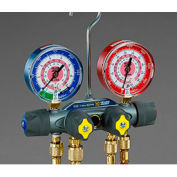 """Yellow Jacket® TITAN Manifold With 60"""" RYB Hoses and 3/8"""" x 45° 49965"""