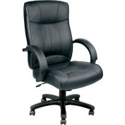 Eurotech Executive Chair - Leather - Black - Odyssey Series
