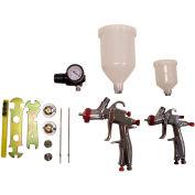 SPRAYIT 8 Piece LVLP Gravity Feed Spray Gun Kit SP-33500K