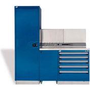 """Rousseau Métal Centre de travail GT GT-C1045S_055, une trousse à outils, 72"""" W, Avalanche bleu"""