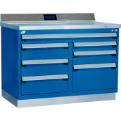 "Rousseau métal Workbench W/Multi-Drawer Tool Box GT-XHG0002S_055, 1 trousse à outils, 48"" W, Avalanche bleu"