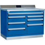 """Rousseau Atelier en métal w / Boîte à outils à tiroirs multiples, 48""""L x 30""""P x 40""""H, Bleu"""