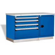 "Rousseau Metal Workbench For MED & SM Parts GT-XKG0004S_055, 2 Tool Boxes, 60""W, Avalanche Blue"