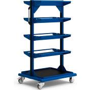 "Bobine mobile Rack 32"" W x 27 «D x 59-1/4» H bas plateau 8 stockage tiges Avalanche bleu"