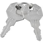 Replacement Keys For Inner Door of Global Industrial™ Narcotics Cabinet 436952, 2pcs Key# 156